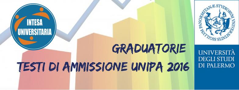 Graduatorie Testi di Ammissione UNIPA 2016