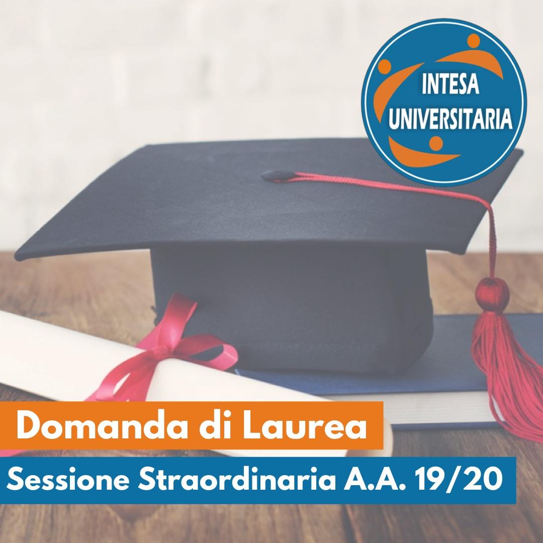 Laureandi della sessione straordinaria A.A. 2019/2020