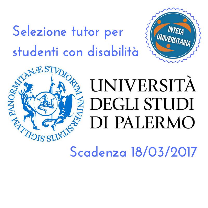 UNIPA: Selezione tutor per studenti con disabilità
