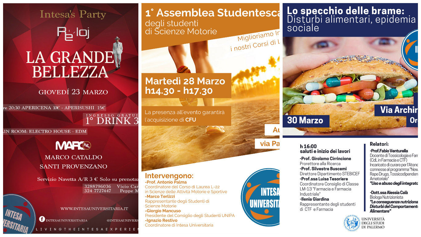 Intesa Universitaria: Presentazione delle attività di Marzo