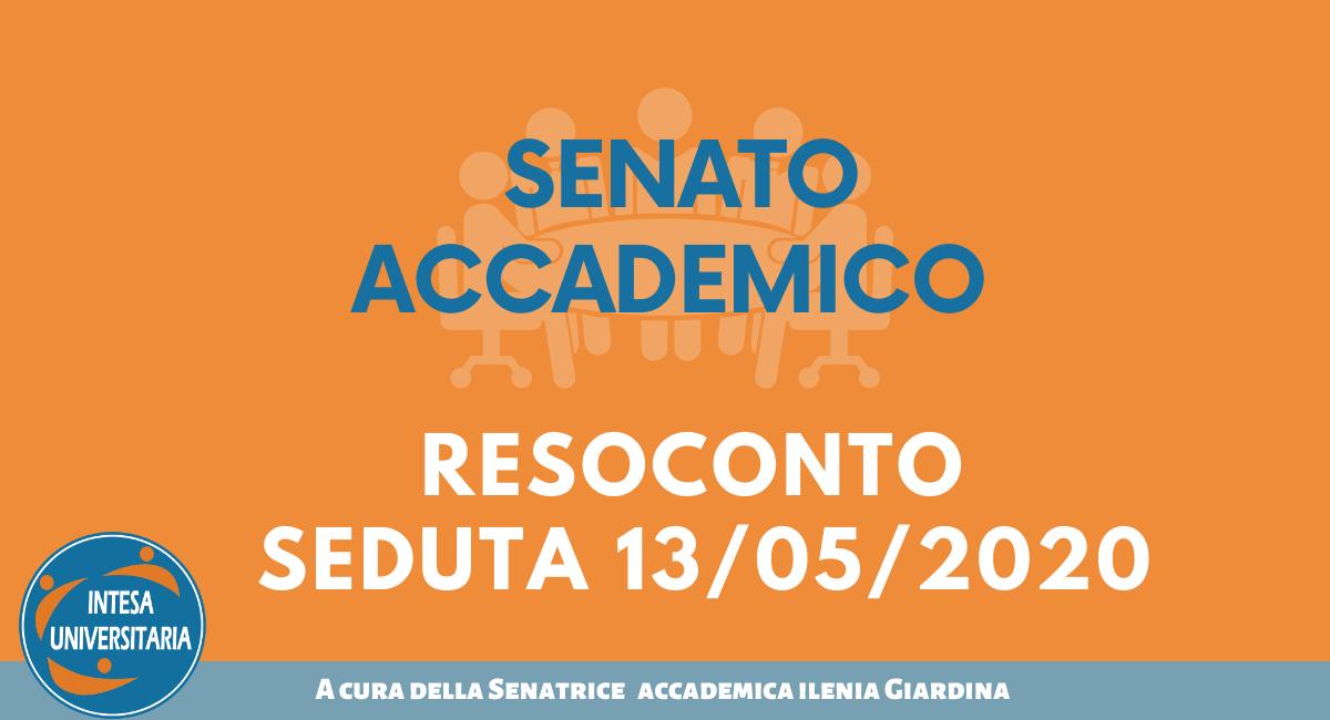 RESOCONTO SEDUTA SENATO ACCADEMICO 13/05/2020