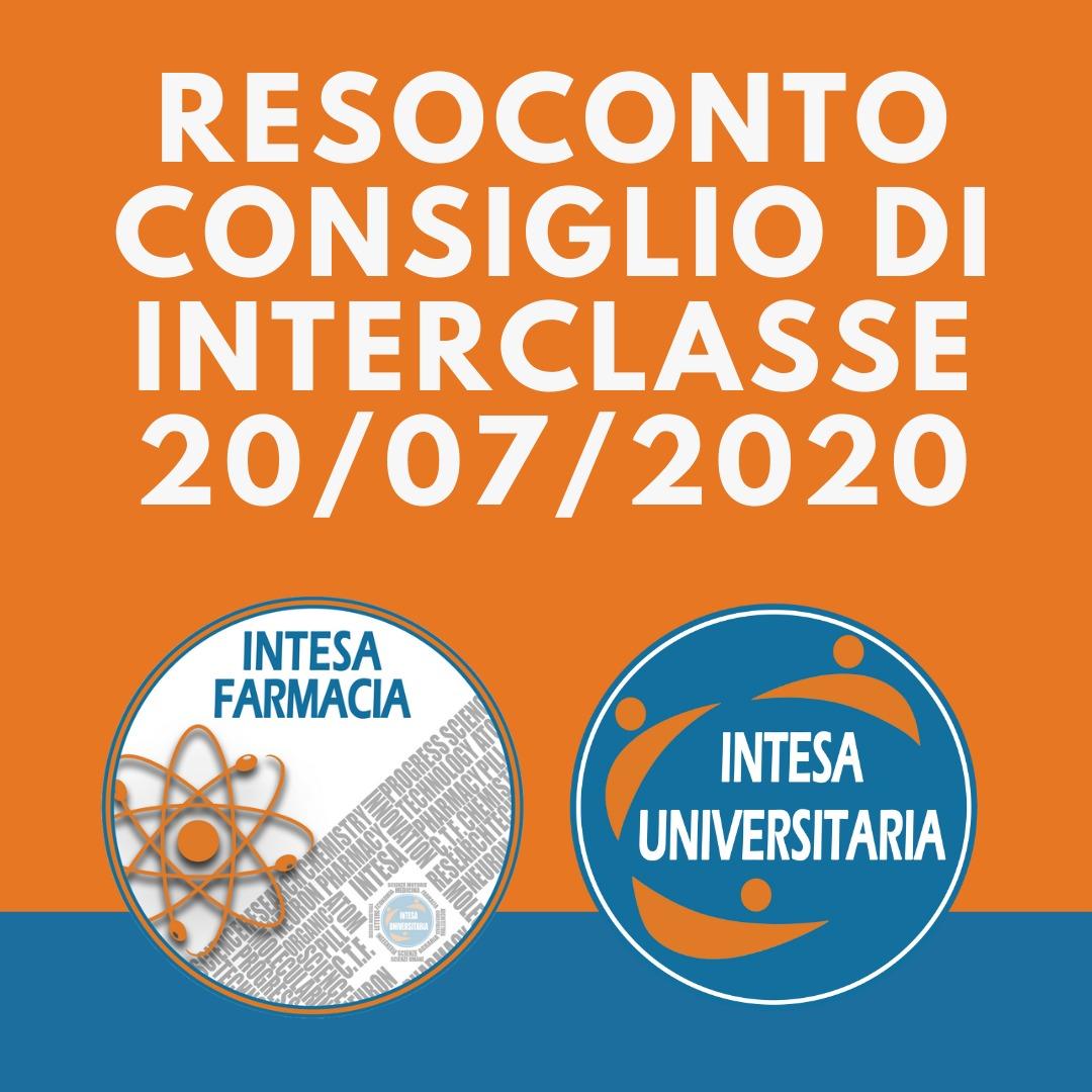 Resoconto Consiglio di Classe  LM-13 in Farmacia e Farmacia Industriale 20/07/2020