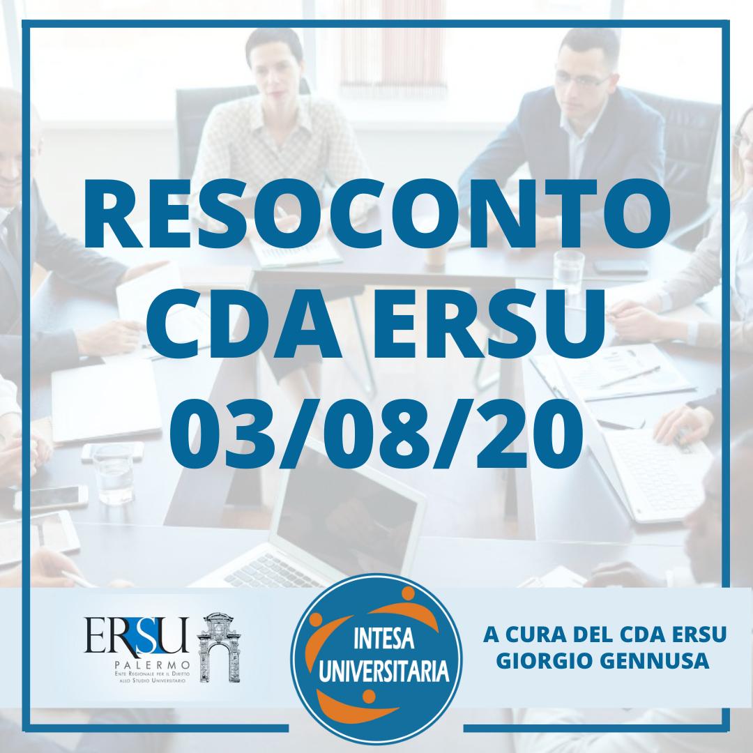 RESOCONTO CDA 03/08/2020