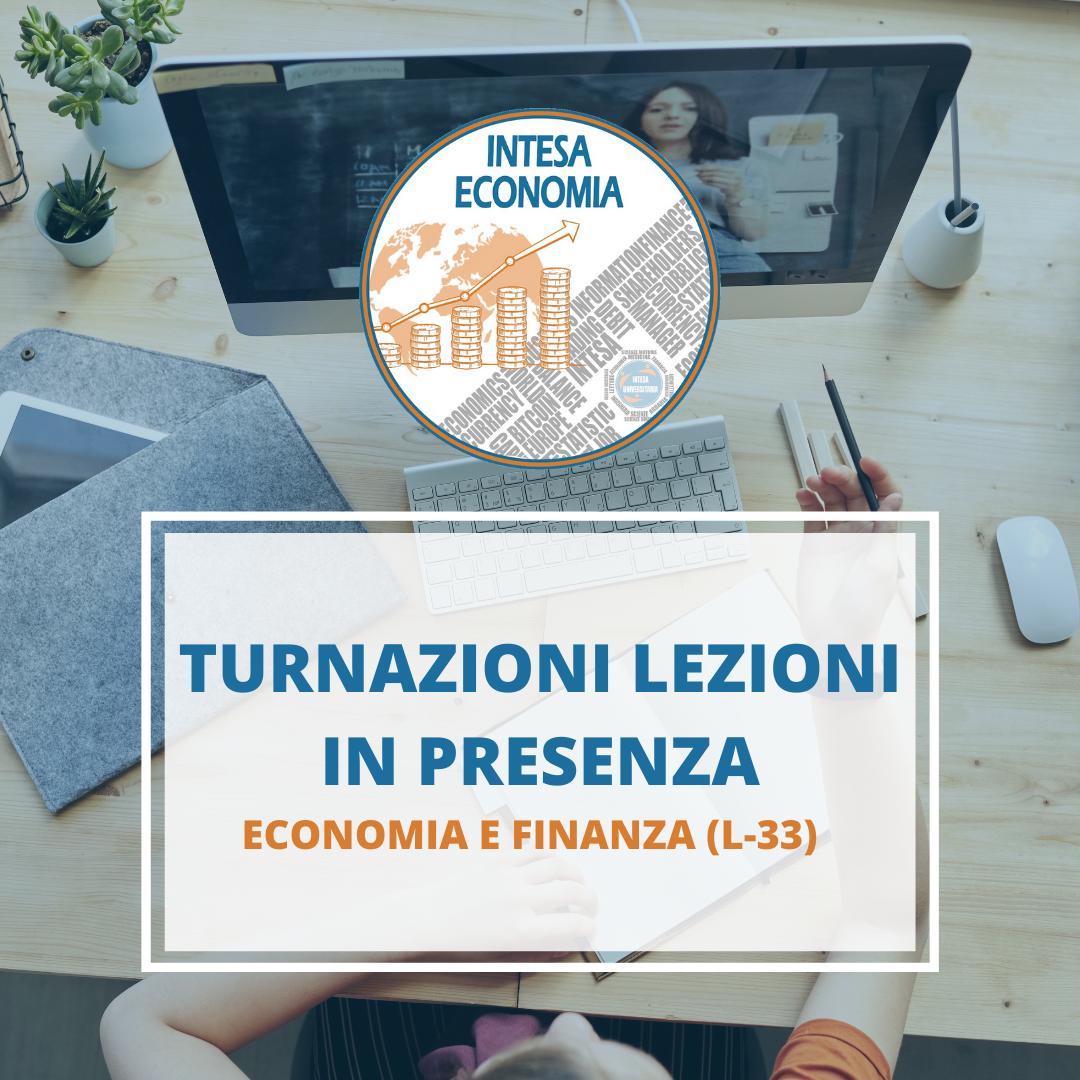 Unipa, Economia e Finanza (l-33): Turnazioni lezioni in presenza!