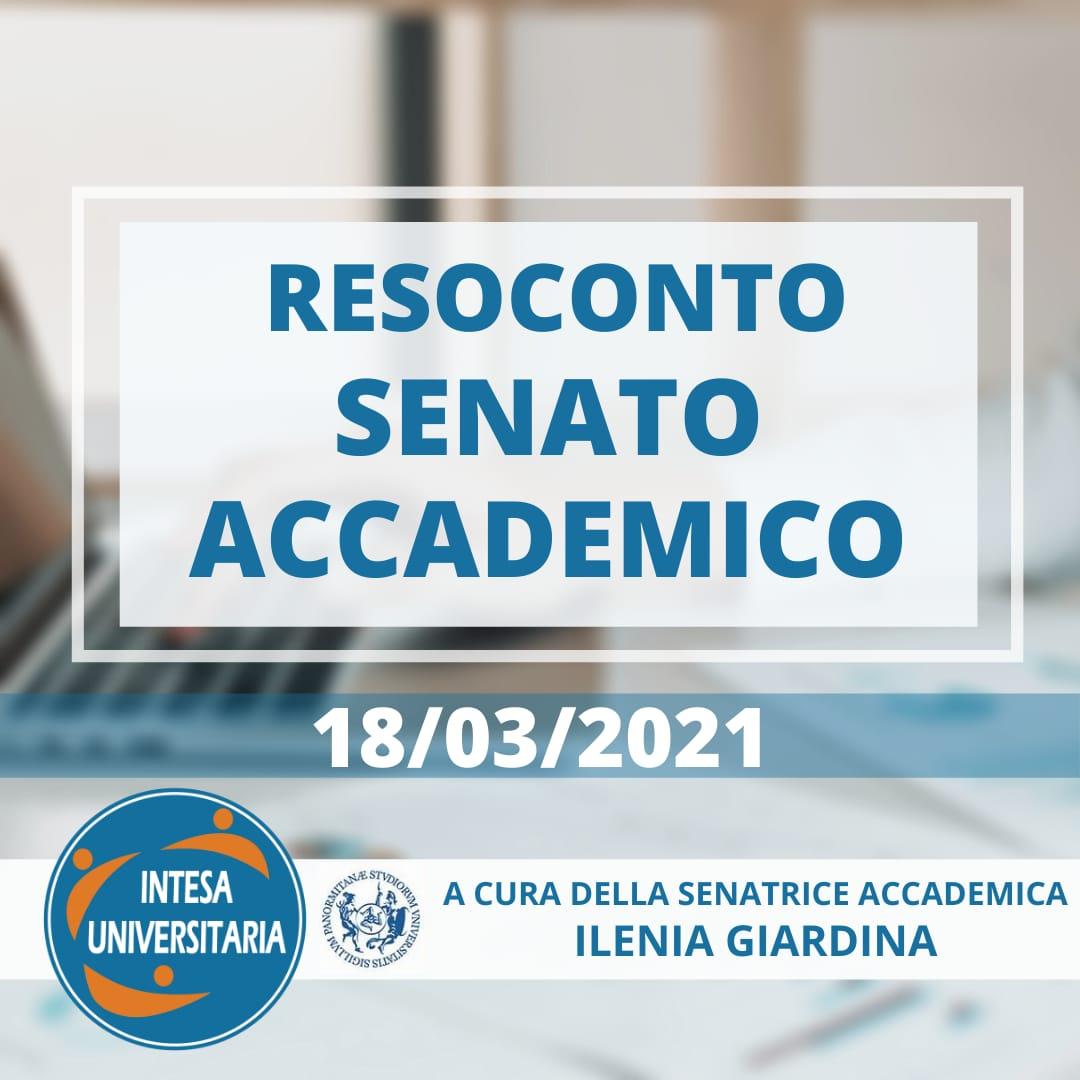 Unipa, Resoconto Senato Accademico 18/03/2021
