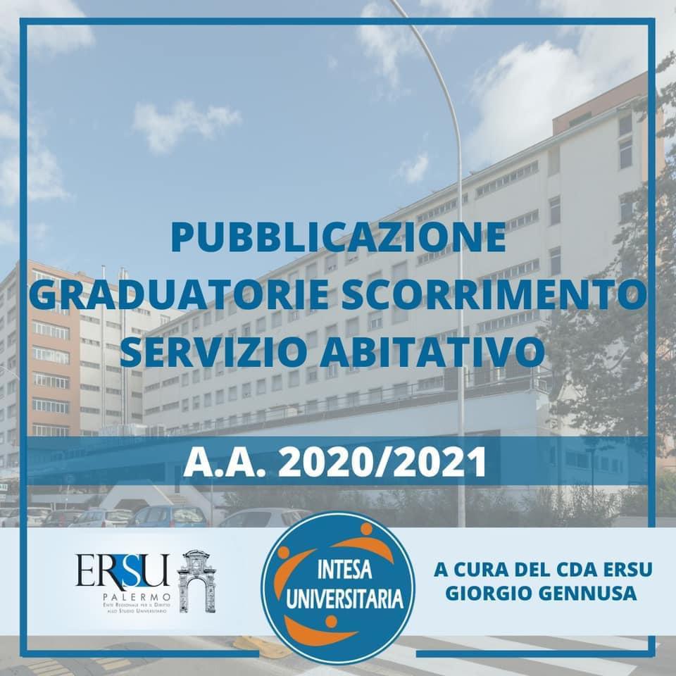 Ersu Palermo, reso noto il quarto scorrimento Graduatorie Servizio Abitativo a.a. 20/21