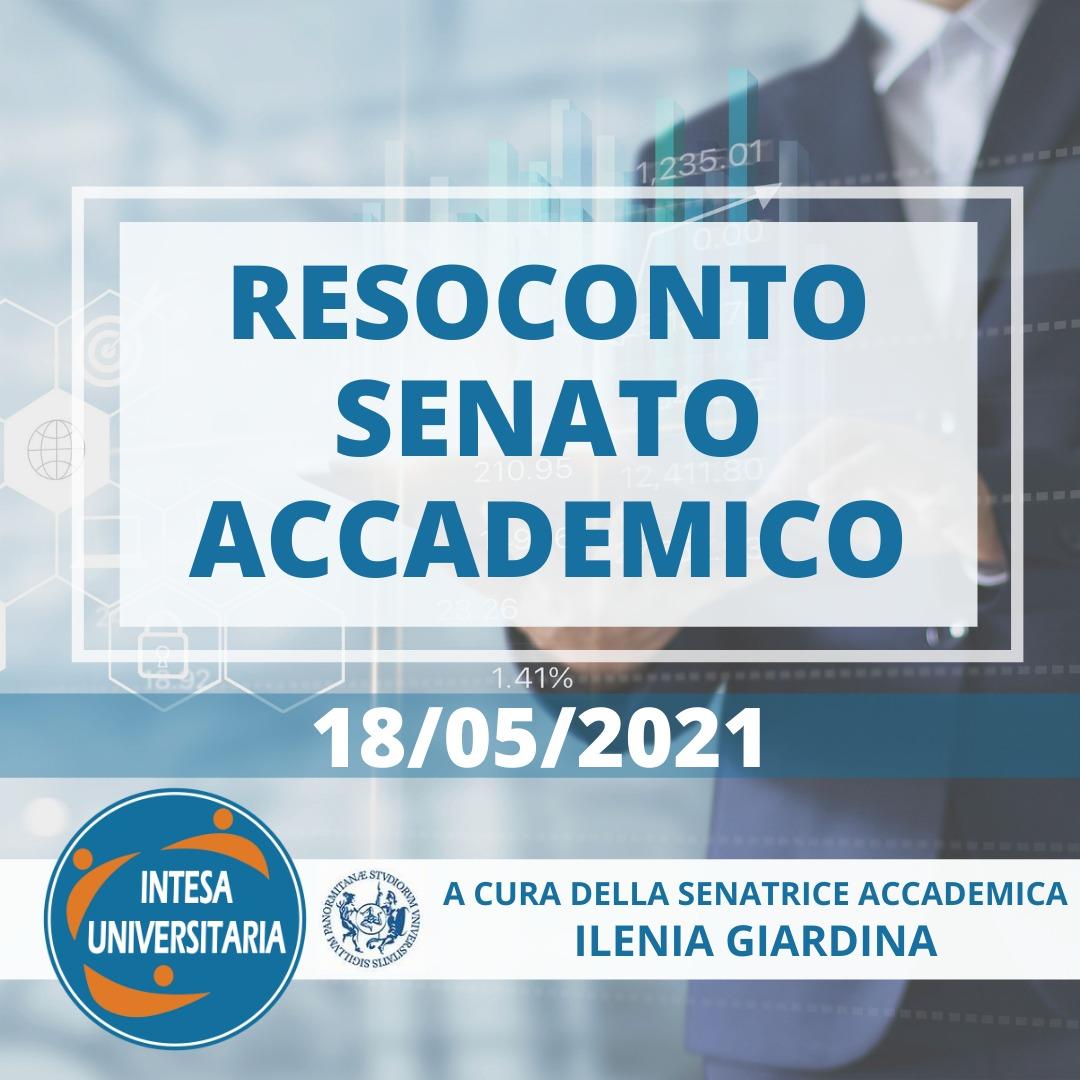 Unipa, Resoconto Senato Accademico 18/05/2021