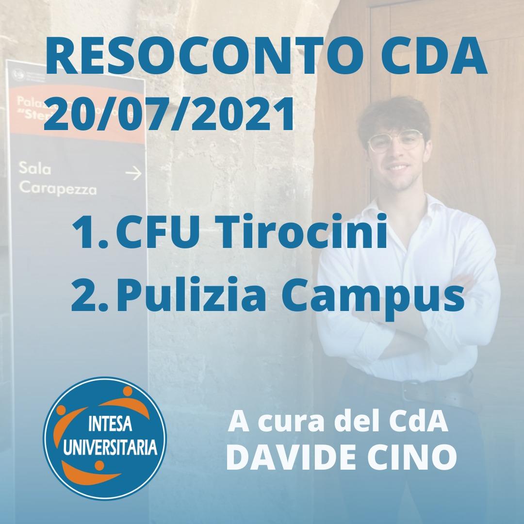 Resoconto CdA – Consiglio di Amministrazione del 20/07/2021