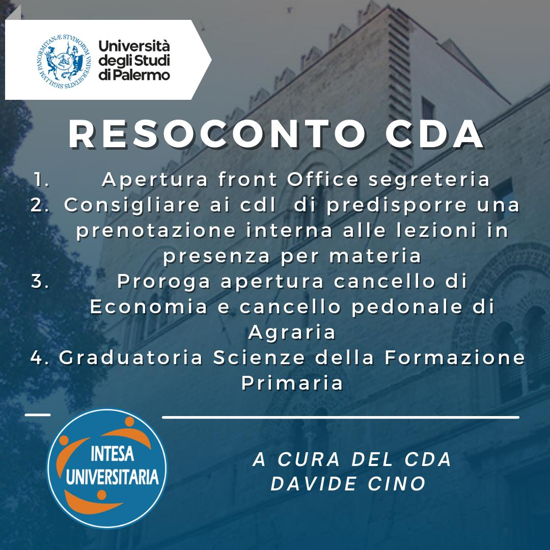 RESOCONTO CDA 29/09/2021