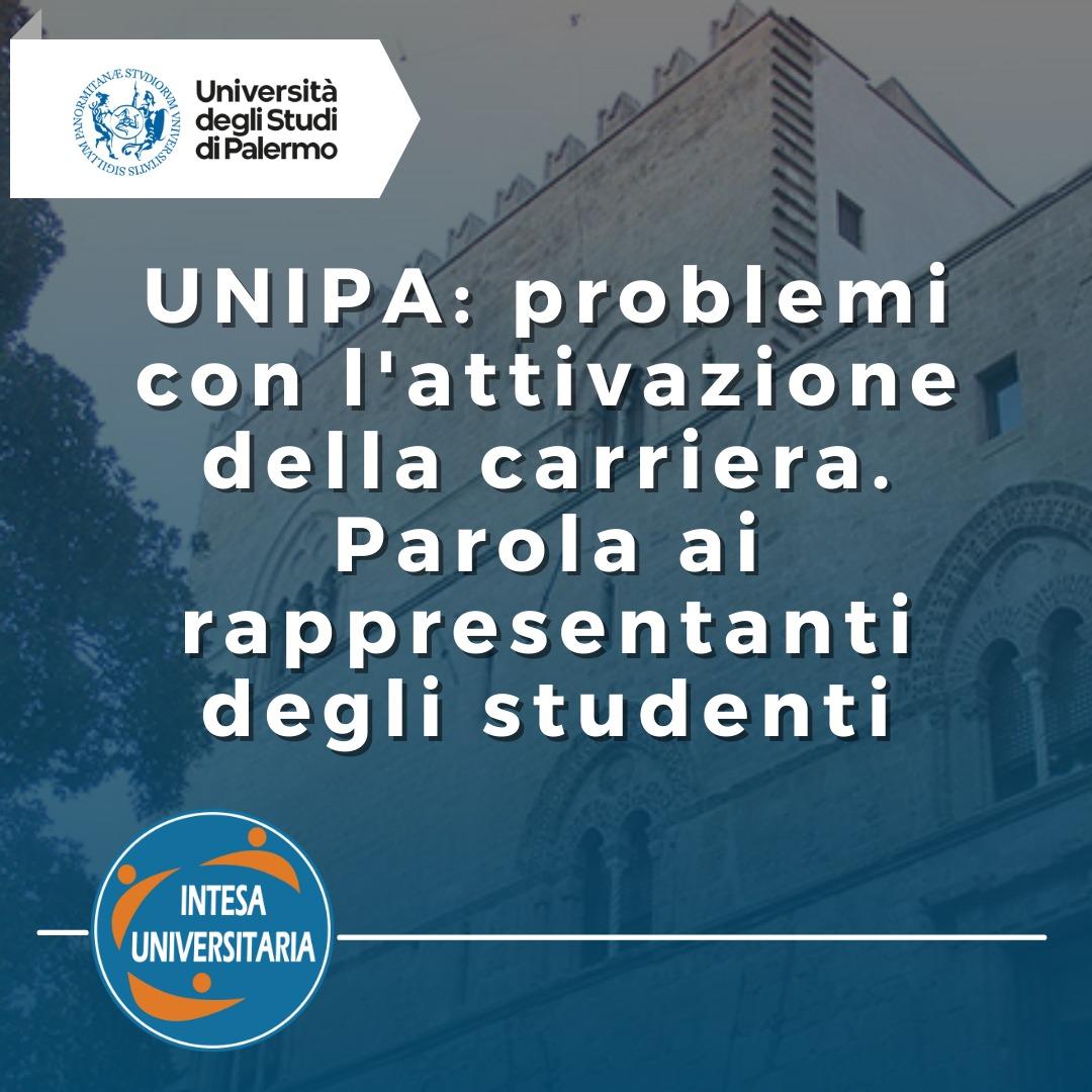 UnipaCard e Carriere Studenti non attive: Ecco la segnalazione del nostro CdA Unipa, Davide Cino!
